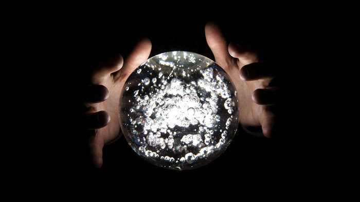 There is no crystal ball