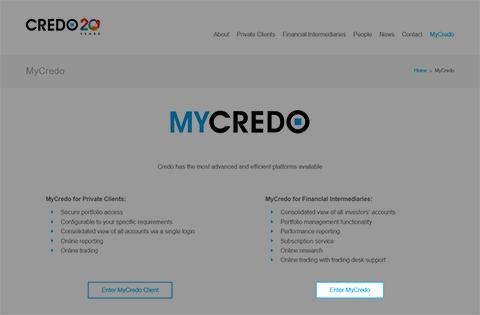 Accessing MyCredo made easier