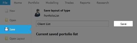 Saving Portfolio List